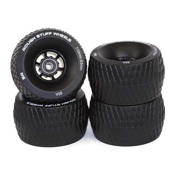 Black Rough Stuff Wheels (Set of 4) Perfectly suited to rough tarmac, loose dirt and gravel.
