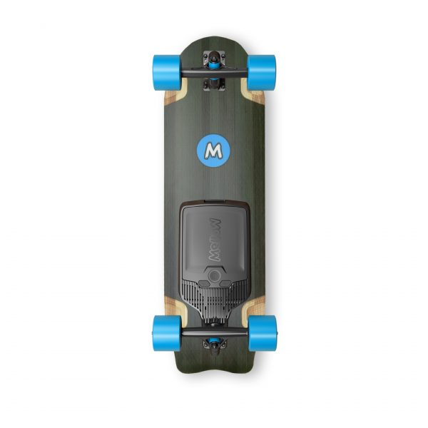Mellow Board Cruiser + Drive Mellow's fully configured electric skateboard. This includes a high performance deck to go with your Mellow Drive and its customized trucks and wheels. The Mellow Cruiser is best for easily travel and urban maneuvering. Range: 12KM Top Speed: 40KM/U Highlights: Modulair design, Made in Germany, Dual Braking System.