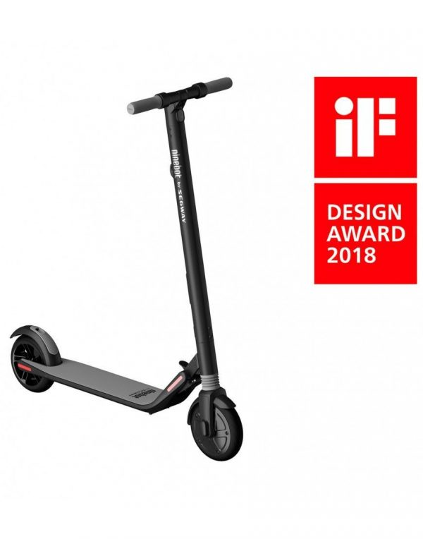 Segway Ninebot KickScooter ES1 A lightweight easy-storage scooter with a one-push folding system for covering short distances. Speed up to 20 km/h Range up to 25 km/h Highlights: Water resistent,Shock Absorber, Customizable Atmosphere Light