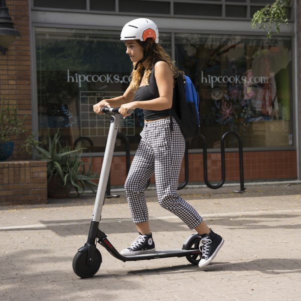 Segway Ninebot KickScooter ES2 This model is replaced by the new generation. Order the Segway E22E. The lightweight easy-storage scooter with a one-push folding system for getting around quickly. Reaches speeds up to 25 km/h, has front and rear wheel shock absorption and solid tires.
