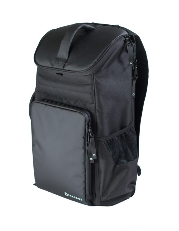 Inboard Backpack for electric skateboards Carry everything you need, protect your valuables, and stay hands-free with a comfortable and versatile bag. Too many things and not enough hands? The BoardPack is your new best friend; a must-have accessory subway stations, or getting to the top floor of that office building.