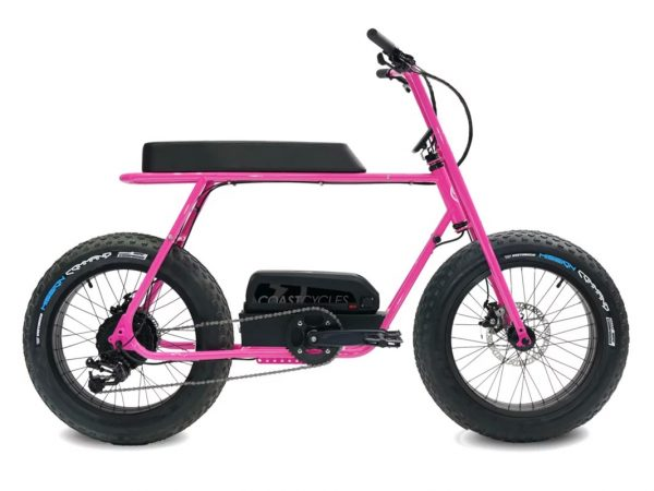 Buzzraw E250 - Pink The Buzzraw E250 is a great ride. Robust, powerful and sexy. Available in 4 colors. Limited Fatdaddy exclusive deal! We are including the Cargo Net and the Fenders for free on every order! On top of that, we are also adding free shipping in Europe. Saving you over €250! Get the hottest e-bike deal now.  Discover all official E250 accessories.