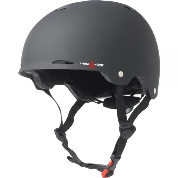 Triple 8 Gotham Helmet Turn heads with our urban styled, Dual Certfied Gotham helmet. It features the patented Conehead EPS liner, Triple Eight logo vents and a subtle brim. No other helmet comes close to the comfort, safety and good looks of the Gotham.