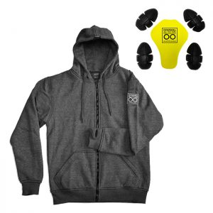 Grey Armored Hoodie By Lazyrolling + Pads