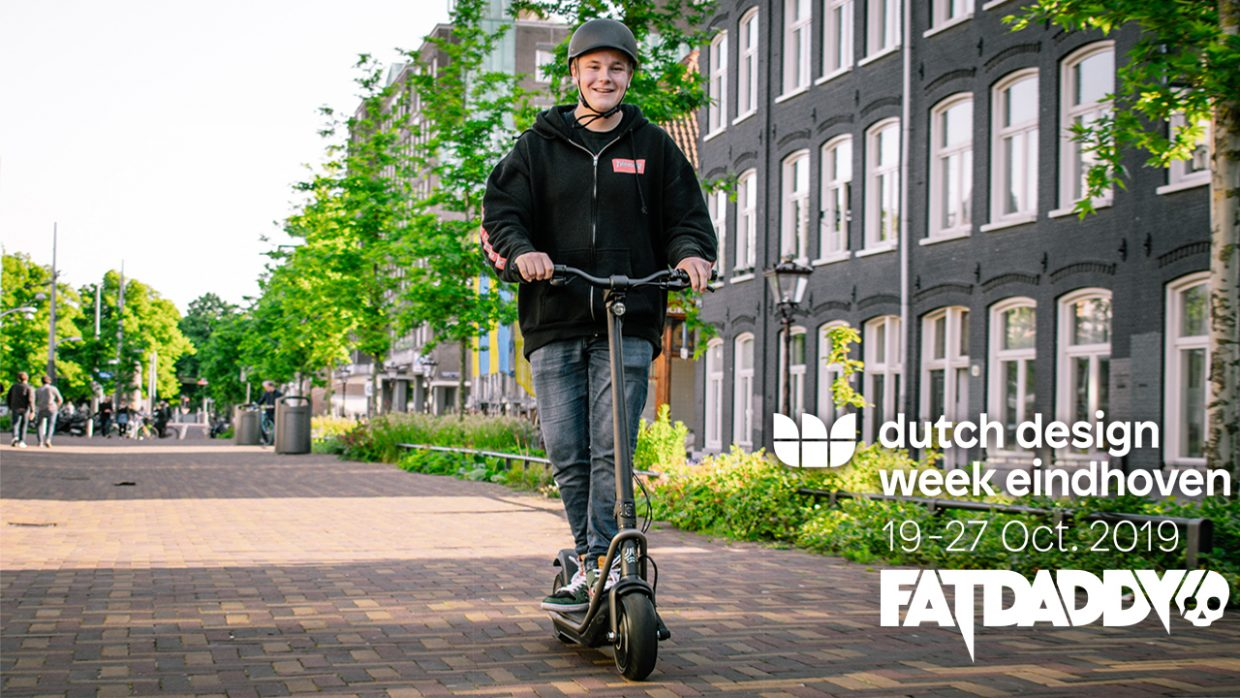 Fatdaddy will host e-mobility experience at Dutch Design Week Fatdaddy will be giving people their first taste of e-mobility during the Dutch Design Week in Eindhoven. Partnering with the national Dutch railway and We-all-wheel to create a great first impression of micro mobility.