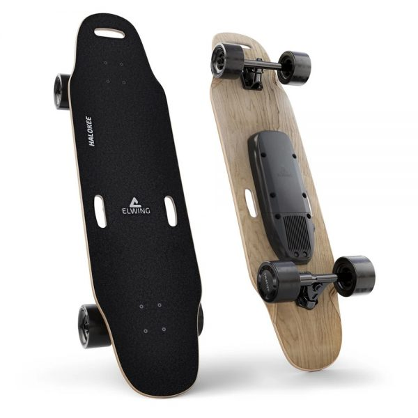 Elwing Powerkit The Elwing Powerkit is a modular kit to create the electric skateboard that perfectly fit's your driving style. Choose your own deck, motors and batteries to create a custom machine. You can always change it later if you're looking for more autonomy, speed or lightness.