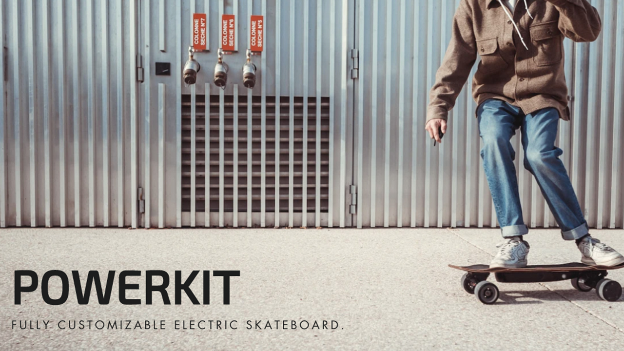 Elwing Powerkit The Elwing Powerkit is a brand new modular kit to create the electric skateboard that perfectly fit's your driving style.