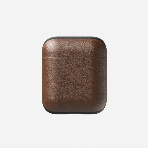 Nomad AirPods Case – Rustic Brown Leather Designed to give your AirPods a classic, yet bold new look. This minimalist, two-piece Rugged Case is built with genuine, vegetable-tanned leather from one of America's oldest tanneries. The leather is designed to beautifully patina with time, creating an AirPods case truly unique to you.
