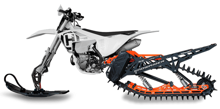 Turn your motorcycle into a snowbike with this Snowrider Kit Winter is coming, and for all of us motorbikers out there that means storing your bike in the garage and gently tell it every day that it will be summer again soon.