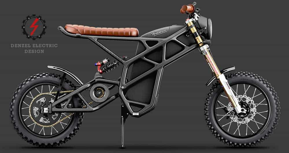 The all new Truvor carbon motor from DenzeL The Denzel Truvor electric motorcycle was created by East Gem. They launched their Honda-inspired variants called Denzel Electric Cafe Racers back in 2017. Now there is a completely new electric motorcycle that has been implemented in the style of a scrambler.