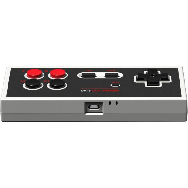 8Bitdo N30 for Nes Classic Edition Play your NES classic Edition wirelessly with 8BitDo's new 2.4G Controllers. Plug and play. No lag. 2.4G Wireless Technology for NES Classic Edition (*Bluetooth connection is not applicable.) Access the NES Classic Edition HOME menu wirelessly Turbo function You can only use this on a NES Classic Edition!