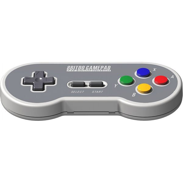 8Bitdo SF30 for SNES Classic Mini Do you own a NES Mini or a SNES Mini? Revive it with a wireless controller! The receiver is included and goes into the controller port of the console. If you play wired, it also works with your PC for the ultimate retro experience with emulators! Wireless Compatibility: SNES Classic Edition / SFC Classic Edition. Wired Compatibility:Windows, macOS, Android and Raspberry Pi via an USB cable