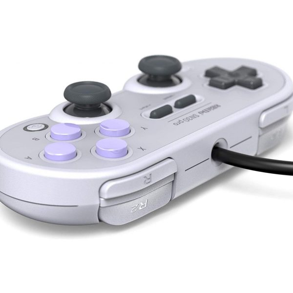 8Bitdo SN30 Pro USB It has been a long time coming to have a controller of this quality to exist on the market. 8Bitdo set out to design a fully featured wired retro controller to play 30 years of video games.Designed with the utmost attention to detail. 8Bitdo paid extra attention to the most critical characteristics like the d-pad, to make sure it feels exactly like you remember it. Compatibility: Windows, macOS, Nintendo Switch, Steam, Raspberry Pi.