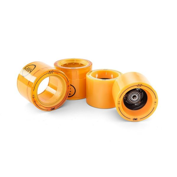 83MM Wheels for Dot (4 Pack) 83mm 78A urethane performance wheels!   Easily swappable using a skate T-tool  Compatible with all dot Board models