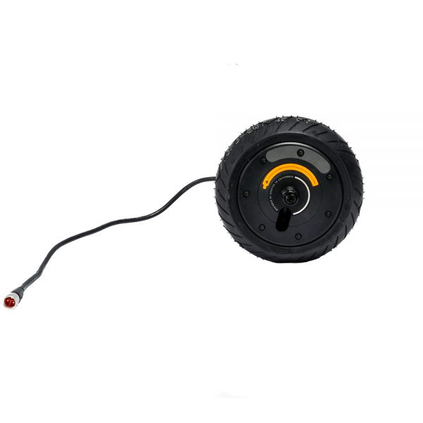 Boosted Rev 750W Rear Motor + Tire The powerful 750 watt continuous brushless DC motor. This is a original new spare part and compatible with the rear.  *due to the pressure involved in the manufacturing of a Boosted Rev, the cable has a few marks that show during disassembling.