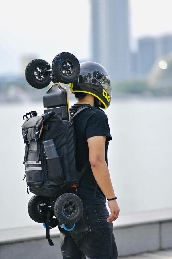 ATSA Everyday® Skateboard Backpack The ATSA Everyday® Skateboard Backpack is designed to carry any kind of (electric) skateboard together with your everyday essentials.