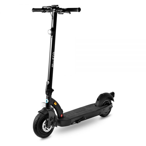 Micro Condor II The Micro Condor II is a beast, it's the SUV of electric scooters.  It has a high-performance motor with a maximum power of 600W, making it possible to cope with hills up to 15%. Thanks to the exchangeable battery the Micro Condor II can take on longer distances. Just swap batteries and go! The large tyres can handle rough roads thanks to a foam core. The Condor II can be compactly stowed and transported thanks to the intuitive folding mechanism and foldable handles. It also has a handbrake with integrated bell and a practical smartphone holder on the handlebars.  Topspeed: 30 km/h Range: 25 km Highlights: Swappable battery, Long distances, Foam core tires.