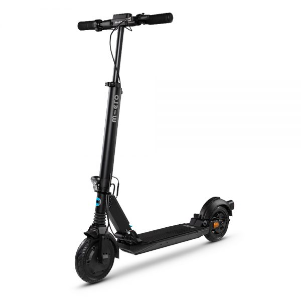 Micro Explorer The Micro Explorer combines power and comfort like no other.  The Micro Explorer electric scooter is the perfect last-mile-solution. The wide deck, adjustable handlebars and front and rear suspension ensure a pleasant driving experience even on rough surfaces. The Explorer is extremely easy to combine with all kinds of public transportation thanks to the foldable handles and the easy foot-folding mechanism.  Topspeed: 30 km/h Range: 30 km Highlights: City & commuter,Long distances